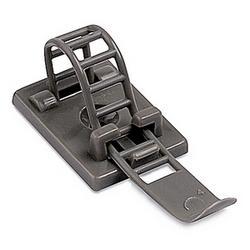 Câble pince réglable/Echelle gris en Nylon 6/6-à base de caoutchouc adhésif avec facultatif #5 vis de montage pour maximale Bundle 3,37
