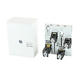 150 amp, left feed, Smissline incoming terminal block with 3 poles plus 1 neutral