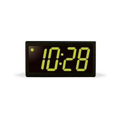 4 digit clock, black powder-coated aluminum case, green LED