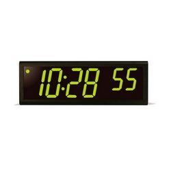 6 chiffre horloge, boîtier en aluminium noir, LED verte