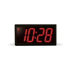 4 digit clock, black powder-coated aluminum case, red LED