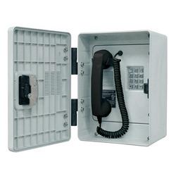 Téléphone extérieur robuste combiné, analogiques, construit d'une enceinte percutantes, Traitement anticorrosif avec clavier Braille, Microphone éliminateur de bruit et Volume contrôle combiné