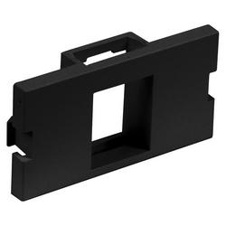 Audio/Video Unloaded Module, Keystone, 1-Port,Flat, 1 Unit, Black