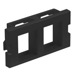 Audio/Video Unloaded Module, Keystone, 2-Port,Flat, 1 Unit, Black