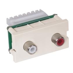 iStation Modules, RCA Audio, 110Termination, 1-Unit, Light Almond