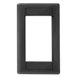 Composant de téléphones/données/Multimedia, INFINe StationModular cadre de plaque, 1-Gang, noir