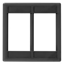 Phone/Data/Multimedia Component, INFINeStationModular Plate Frame, Double-Gang, Black