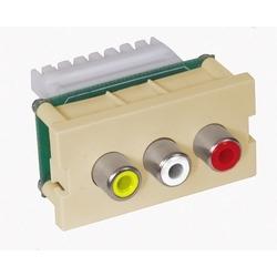 Plates, INFINI Module, Component Audio/Video,110 Block, Telco Ivory