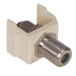 Snap-Fit, F-Coax Connector, Light Almond