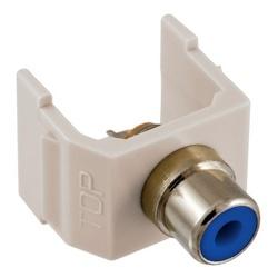 INFINe Connector, Audio/Video Connector, RCASolder Coupler Termination,Office White/Blue