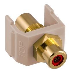 Snap-Fit, Audio/vidéo connecteur, or ampli RCA, F/FCoupler, rouge/amande