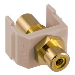 Snap-Fit, Audio/vidéo connecteur, or ampli RCA, F/FCoupler, jaune/amande
