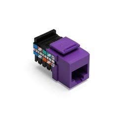 Catégorie 3 QuickPort connecteur, 8 poste, 8 conducteurs, violet