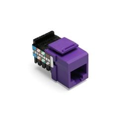 La voix de Grade QuickPort connecteur, Position 8, 8 conducteur, violet