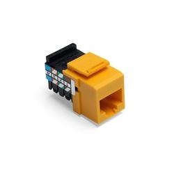 La voix de Grade QuickPort connecteur, Position 8, 8 conducteur, jaune