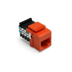 Voice Grade QuickPort Connector, 8 Position, 8 Conductor, Orange