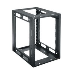 HRF Series Rack, 8 RU, Rackrail Type 10-32, 10.65 Inch Width x 14 Inch Depth x 14.94 Inch Height, Steel, Black Powder Coat, Horizontal Mount
