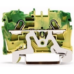 2-COND GROUND TERMINAL BLOCKS 20-10 AWG  GREEN/YELLOW