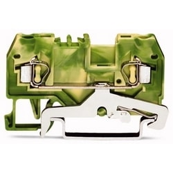 2-COND SOL BORNIER 28-12AWG CAGE CLAMP CONNECTIONGREEN-JAUNE