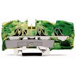 EARTH TERMINAL BLOCK LATERAL  MARKING FOR DIN 35 RAIL CAGE  CLAMP CONN.GREEN-YEL