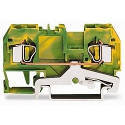 2-conductor Ground Terminal Block; 4 mm2; Center Marking; For Din-rail 35 X 15 And 35 X 7.5; CAGE CLAMP