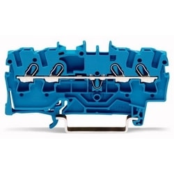 4-conductor Through Terminal Block; 2.5 mm2; For Ex E II And Ex I Applications; Side And Center Marking; For Din-rail 35 X 15 And 35 X 7.5; Push-in CAGE CLAMP