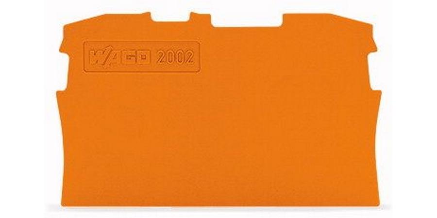 END PLATE FOR 2002-1201       0.8MM ORANGE