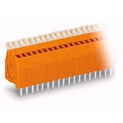PCB TERMINAL STRIP            2 SOLDER PINS/POLE            4 POLE ORANGE