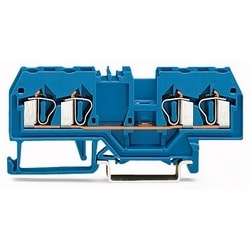 RAIL MOUNTED TERM BLOCK       5MM 600V/20A/28-12AWG         4 COND -  BLUE