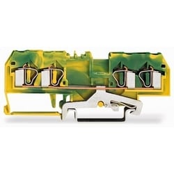 4-COND GROUND TERMINAL        BLOCK                         GREEN/YELLOW