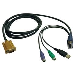 Câble PS2/USB Combo pour NetDirector KVM commutateurs B020-U08/U16 et KVM B022-U16, 6 pi.