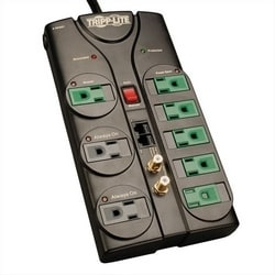 Eco-Surge 8-Outlet Surge Protector, 8-ft. Cord, 2880 Joules, Tel/Modem/Coax/Ethernet Protection
