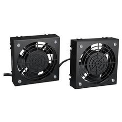 SmartRack Wall-Mount Roof Fan Kit - 2-120V high-performance fans; 210 CFM; 5-15P plug