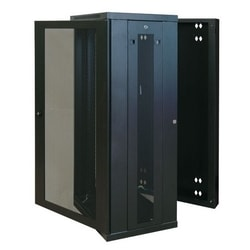Tripp Lite 26U Low-Profile Wall-Mount Rack Enclosure Cabinet, Double Hinge, Removable Side Panels, 50H x 24W x 22D