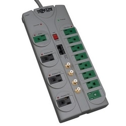 Eco-Surge 12-Outlet Home/Business Theater Surge Protector, 10-ft. Cord, 3600 Joules - Accommodates 8 Transformers