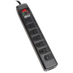 Protect It! 7-Outlet Surge Protector, 6-ft. Cord, 1440 Joules, Tel/Modem Protection, Safety Covers