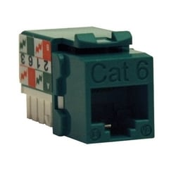 CAT6/Cat5e 110 Style Punch Down Jack trapézoïdal - Green, TAA