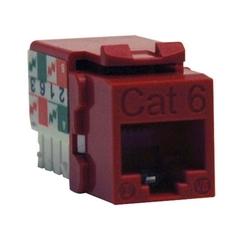 CAT6/Cat5e 110 Style Punch Down Jack trapézoïdal - rouge, TAA