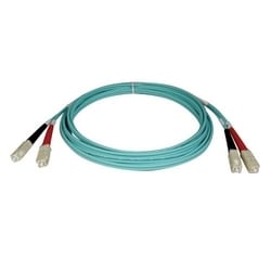 10Go Duplex Multimode 50/125 OM3 LSZH Fibre Patch Cable (SC/SC) - Aqua, 3M (10 pi.)