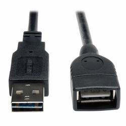 Câble d'Extension universel réversible USB 2 Hi-Speed (A réversible à un M/F), 1 pieds.