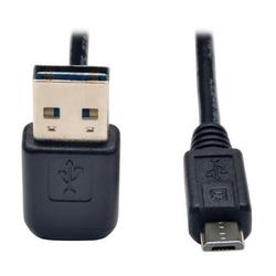 Câble 2 Hi-Speed USB réversible universel (haut / bas Angle réversible A Micro-b M/M), 6-pi.
