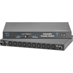 ATS-H10C13-16A-MD 1U Metered Horizontal, 10 x C13, 16A, 2x 3m cord with C20 plug input