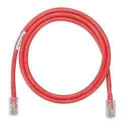Cordon de brassage cuivre NetKey, catégorie 5e, un câble UTP rouge, 17ft
