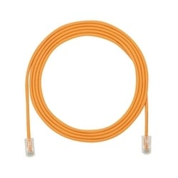 Cordon de brassage en cuivre, Cat 5e SD, 28 AWG CM Orange/LSZH câble UTP, 4pi, paquet de 25