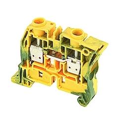 ZS16-PE Screw Clamp Terminal Block - Ground - Green/Yellow