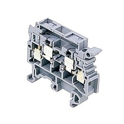 Fuse Holder Terminal Block Grey with Test Diameter 2mm 22-12 AWG