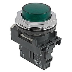 Pilot Light, 30mm, 120V, Green LED, Modular