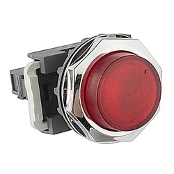 Pilot Light, 30mm, 120V, Red LED, Modular