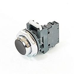 Push Button - Momentary, 30mm Flush, Green, 1NO Modular