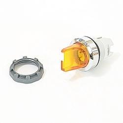 22mm Modular - Illum Selector, 2 Position Knob, B-C, Yellow, Metal